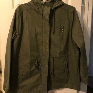 Ladies olive green utility jacket